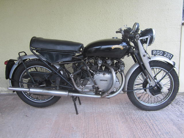 One owner since 1966,1955 Vincent 998cc Series-D Rapide Frame no. RD12658 Engine no. F10AB/2/10758