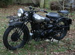 1937 Brough Superior 982cc SS80 Frame no. BS/1852 Engine no. BS/X 4513