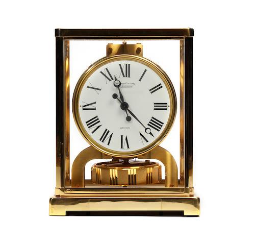 A 1960s gilt-brass Atmos mantel timepiece Jaeger LeCoultre, No. 329228