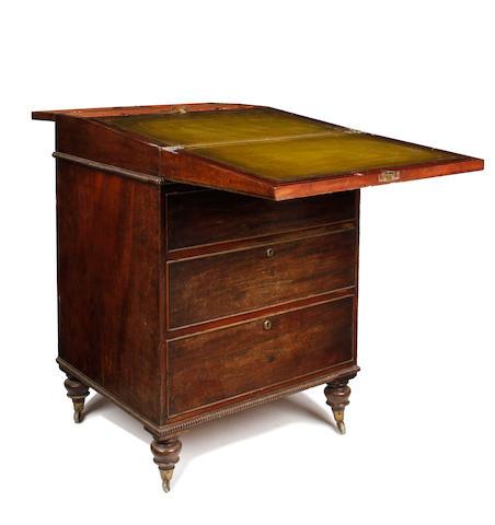 A late Regency mahogany davenport