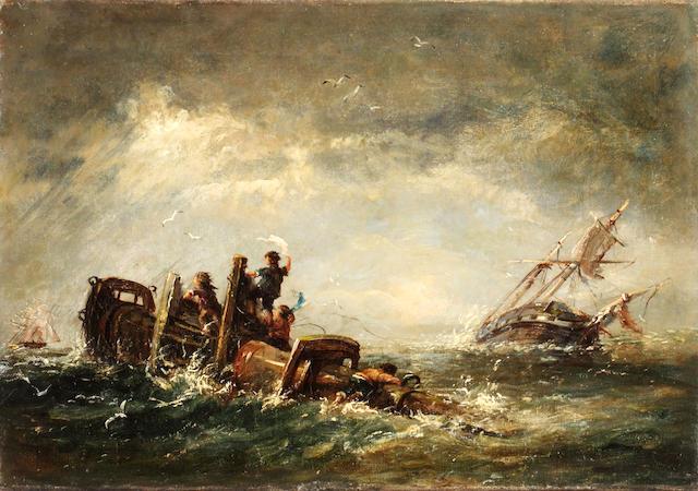 John Chambers (British, 1852-1928) A wreck