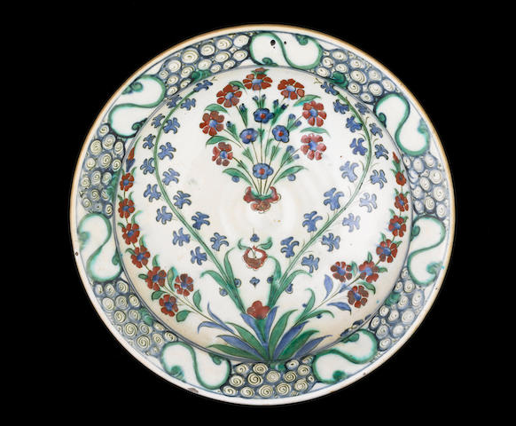 A Isnik dish with flowers (hole)