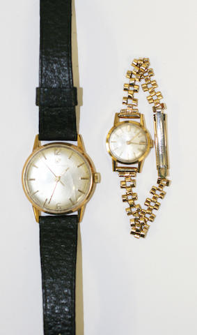 Girard-Perregaux: A 9ct gold lady's wristwatch,(2)