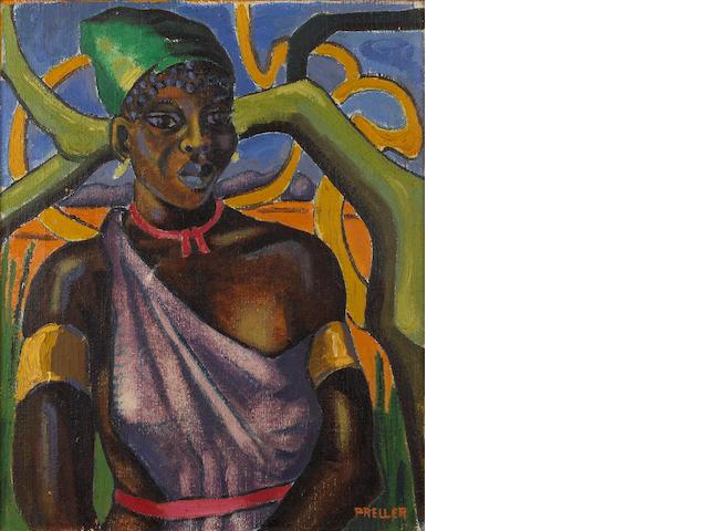 Alexis Preller (South African, 1911-1975) Native study