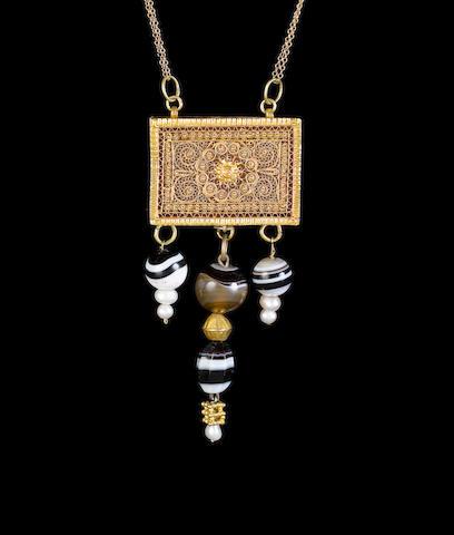A Qajar filigree gold Qur'an Case Persia, 19th Century