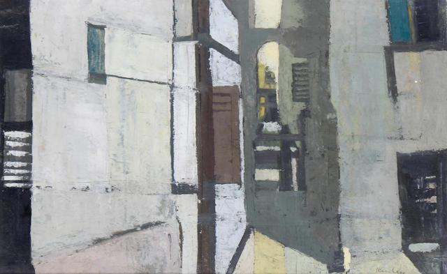 Peter Kinley (British, 1926-1988) Street scene