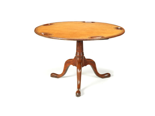 A George III mahogany tripod games table