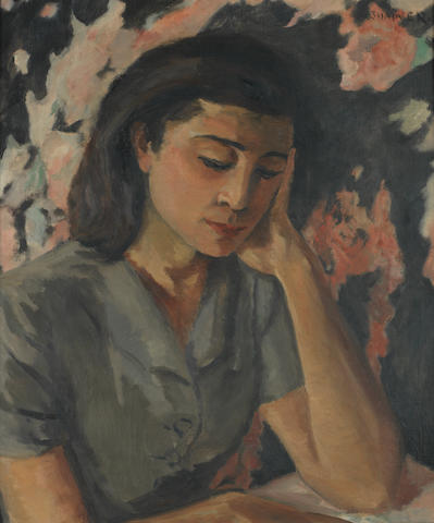 Maud Frances Eyston Sumner (South African, 1902-1985) Portrait of a lady