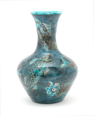 Pottery Vase, attributed to William De Morgan