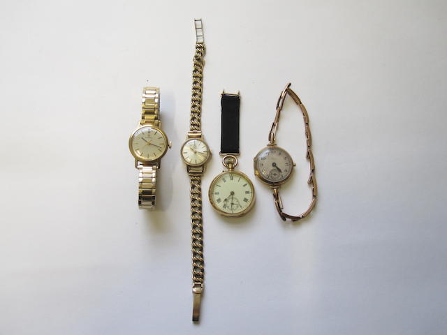 Four gold watches