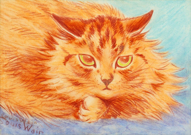 Louis Wain (British, 1860-1939) Mouse Watching