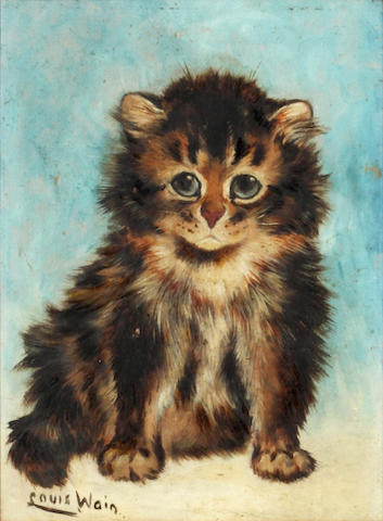Louis Wain (British, 1860-1939) What a Wonderful World this is!