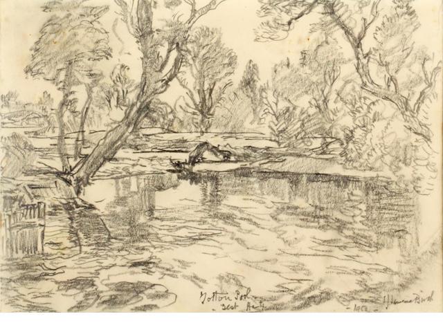 Samuel John Lamorna Birch, R.A., R.W.S., R.W.A. (British, 1869-1955) Cattle on a country lane
