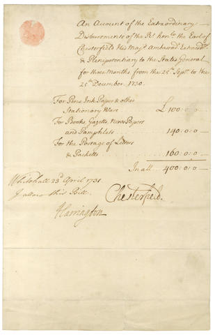 MANUSCRIPT MISCELLANY – EIGHTEENTH and NINETEENTH CENTURY LITERATURE. Collection of autograph letters etc