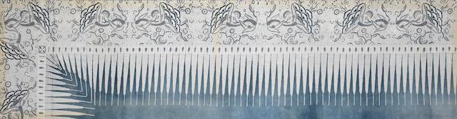 A South East Asian Batik textile framed.
