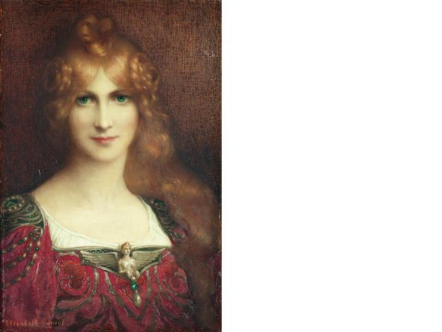 Elizabeth Sonrel (French, 1874-1953) Jeune femme