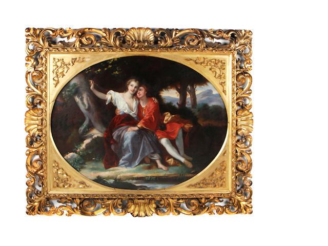 Giuseppe Mazzolini (Italian, 1806-1876) Angelica and Medoro