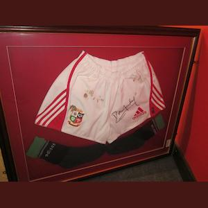 Australia 2001 British Lions match worn shorts signed by Rob Howley