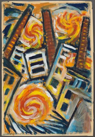 Sándor Bortnyik (Hungarian, 1893-1976) Fire