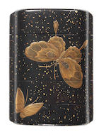 A black lacquer four-case inro By Kahei, late 18th/early 19th century