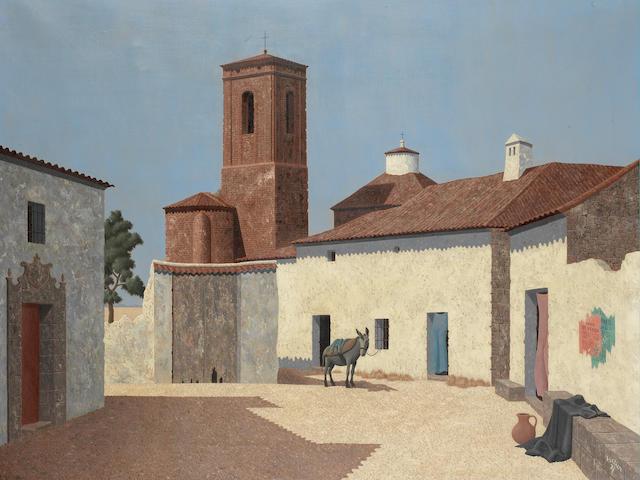 Tristram Hillier R.A. (British, 1905-1983) Pozuela del Rey 61 x 81 cm. (24 x 32 in.)