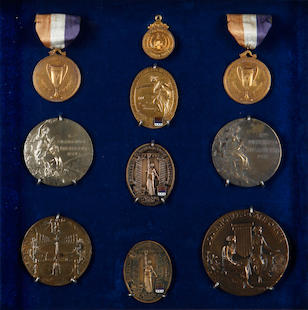 An Important Olympic Archive collection, H.R.(Bobby) Pearce, Champion Sculler (1905-1970)Including Olympic Gold Medals and Diplomas, 1928 & 1932 Olympiads.
