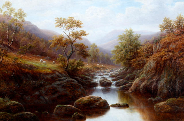 William Mellor (British, 1851-1931) 'On the Wharfe, Yorkshire', and 'Autumn on the Lledr, North Wales', a pair