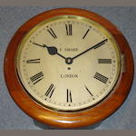 A late 19th Century mahogany wall timepiece