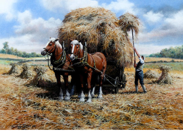 John Seerey-Lester (American, born 1946) Loading the hay cart