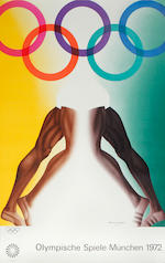 A set of five posters for the Munich Olympics, 1972