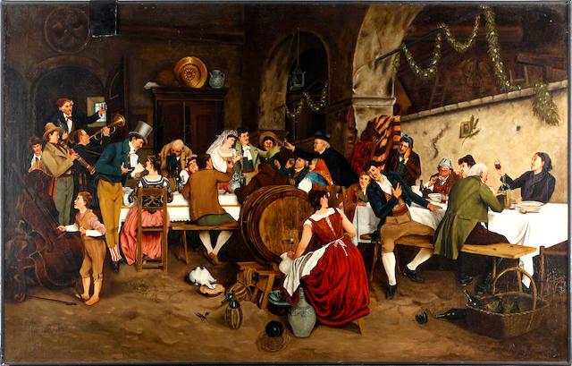Continental School, 19th Century Austrian Wedding Feast