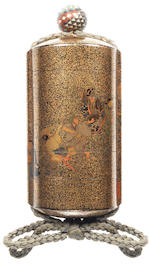 A gold lacquer five-case inro  By Hosen Jitoku, 19th century
