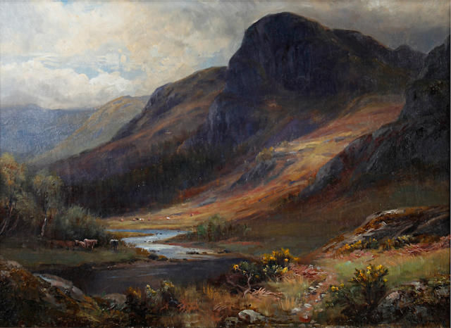 William Lakin Turner (British, 1867-1936) Borrowdale, Cumberland; Raven Crag, Cumberland, a pair (2)