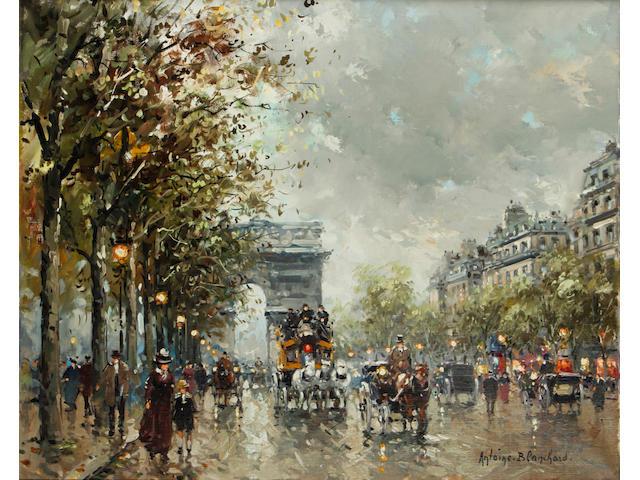 Antoine Blanchard (French, 1910-1988) Avenue des Champs-Élysées, Paris