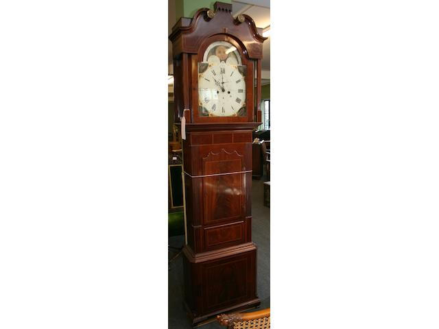 """A mahogany 8-day longcase clock """"Bennett, St Helens"""""""