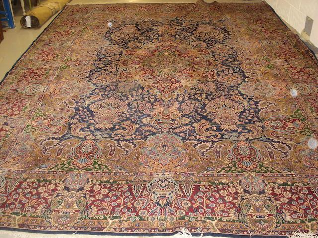 A Kirman carpet, South East Persia, 406cm x 294cm