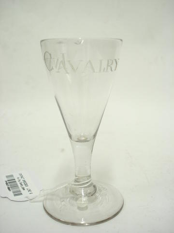 An Irish glass engraved 'Inny Cavalry' Circa 1760