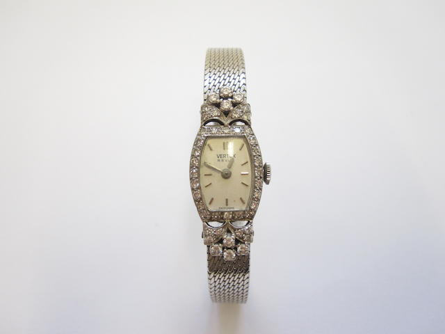 A ladies diamond-set cocktail watch, by Vertex