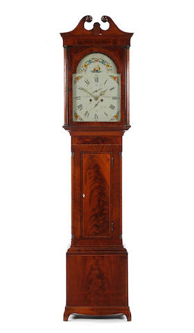 An early 19th century flame mahogany eight-day longcase clock John Gibson, Saltcoats