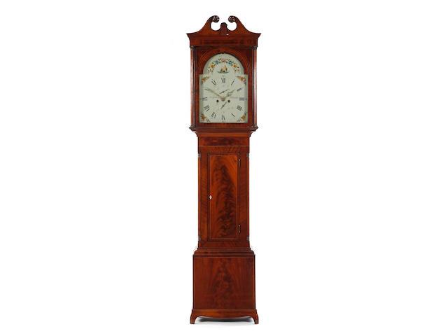 An early 19th century flame mahogany eight-day longcase clock John Gibson, Saltcoats
