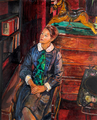 Carel Weight R.A. (British, 1908-1997) Portrait of a seated lady