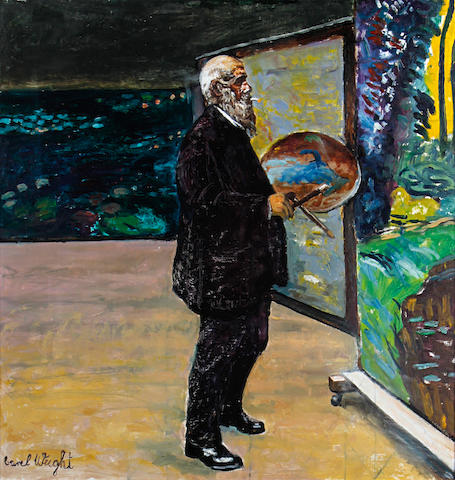 Carel Weight R.A. (British, 1908-1997) Portrait of Monet in his studio