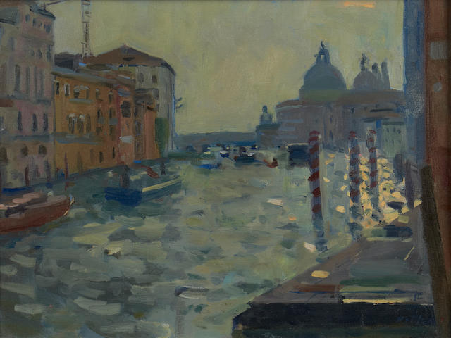 Bo Hilton NEAC (British, born 1961) Grand Canal, Venice
