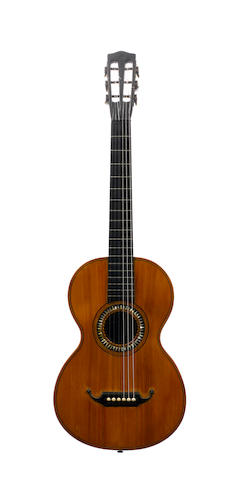 A German six string guitar by Gebruder Wolff, circa 1890 (2)