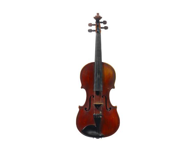 A Violin attributed to Michele and Pietro Mellegari, Turin, 1871 (2)