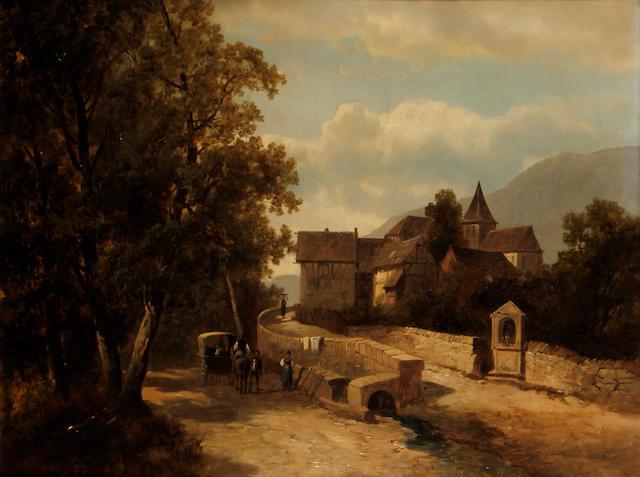 Josef Thoma Jnr. (Austrian, 1828-1899) Village scene