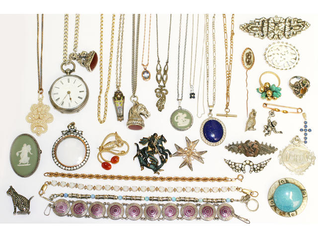 A large collection of assorted jewellery items