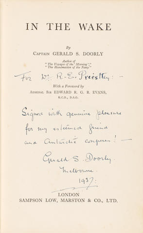 DOORLY (GERALD S.) In the Wake, FIRST EDITION, Sampson Low, Marsten & Co., 1936