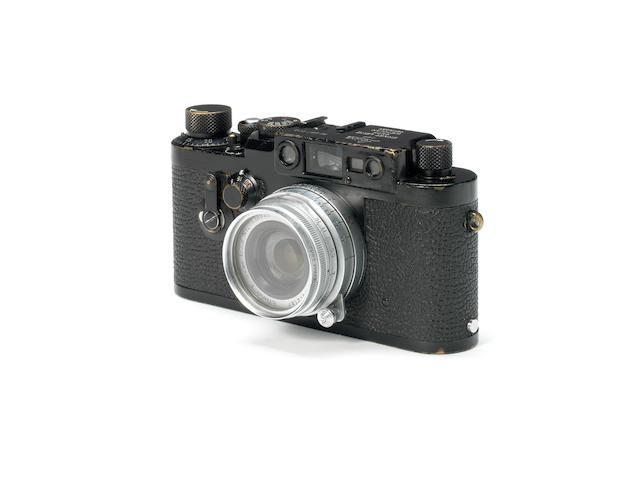 Leica IIIG Swedish army body, with Elmar f2.8 5cm lens,
