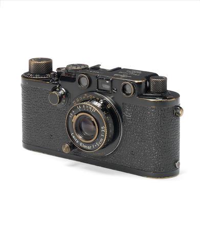 A Leica IIIf Black Swedish army body, with Elmar f3.5 5cm lens,